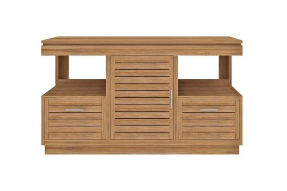 Oasis Teak Washstand with One Cupboard and Two Drawers - 140cm X 80cm