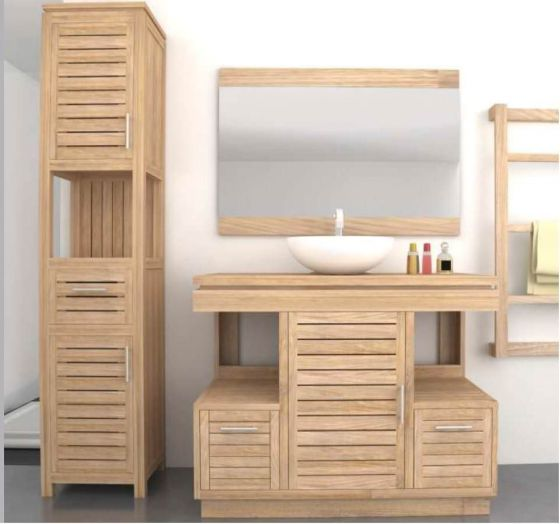 Oasis Teak Washstand with One Cupboard and Two Drawers - 105cm X 80cm