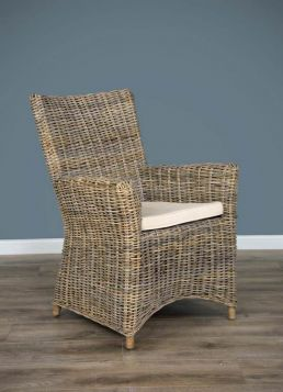 Natural Wicker Armchair - Vincent