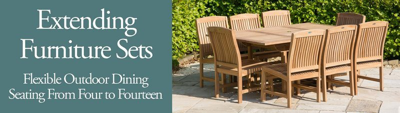 Extending Garden Table Sets