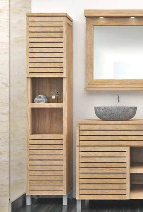 Diva Teak Tall Bathroom Cabinet, Bathroom Tall Cabinets