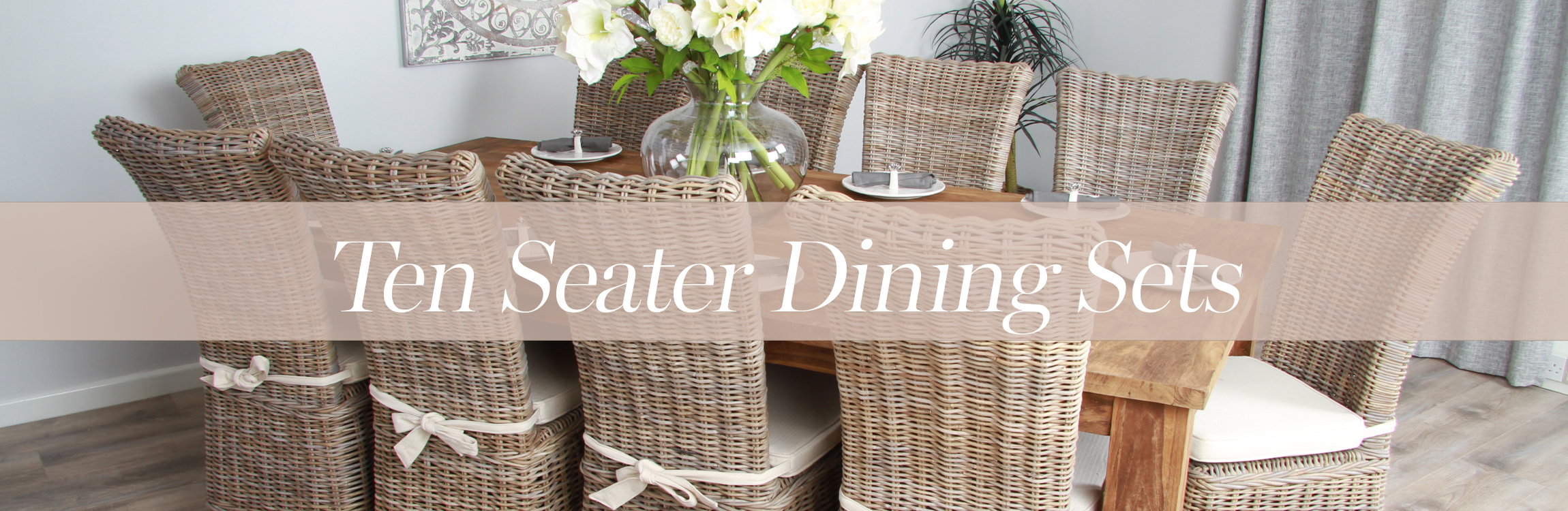 10+ seat dining sets