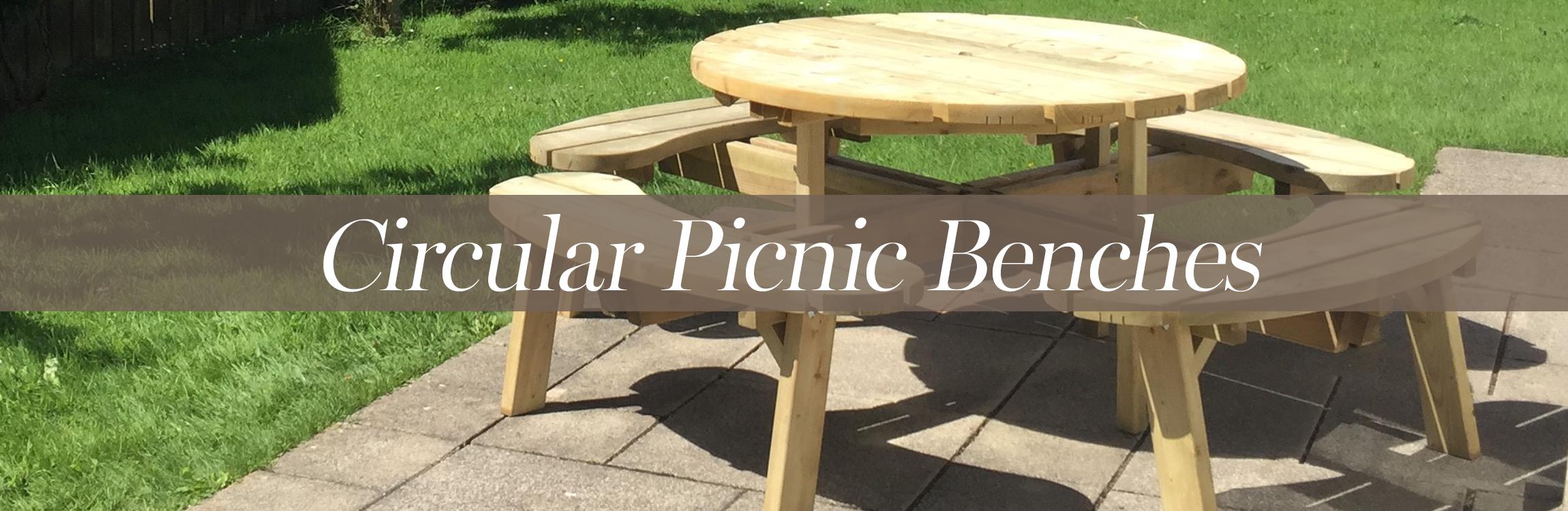 Circular Picnic Benches