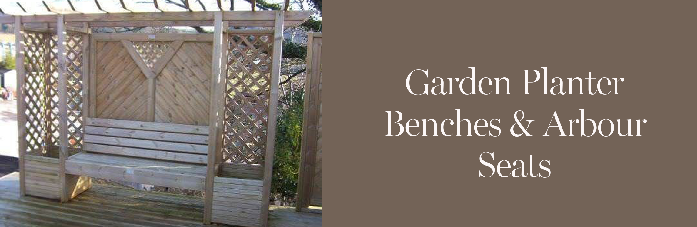 Planter Benches and Arbours