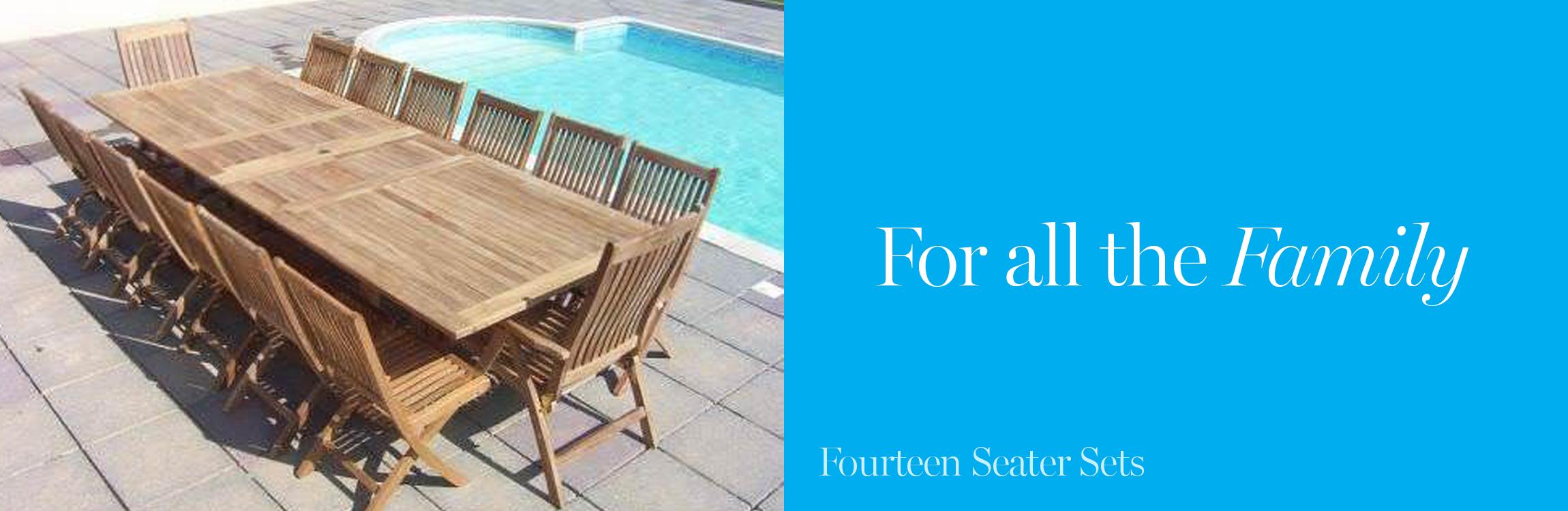 Fourteen Seater Garden Furniture Sets