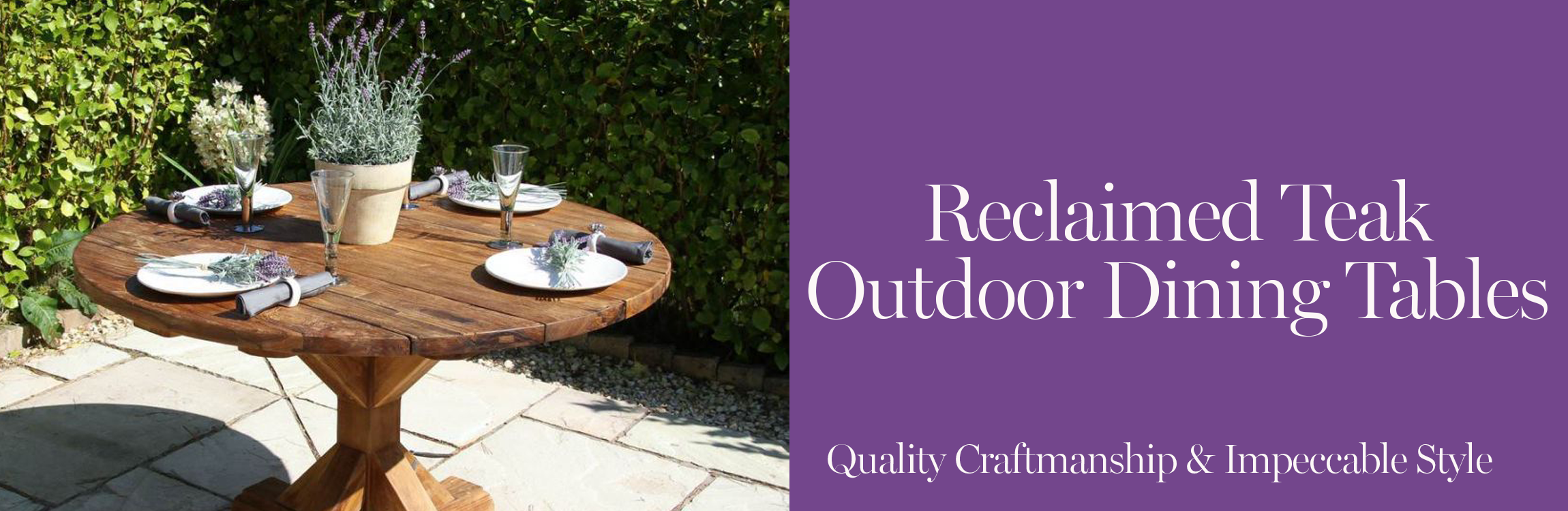 Reclaimed Teak Outdoor Dining Tables