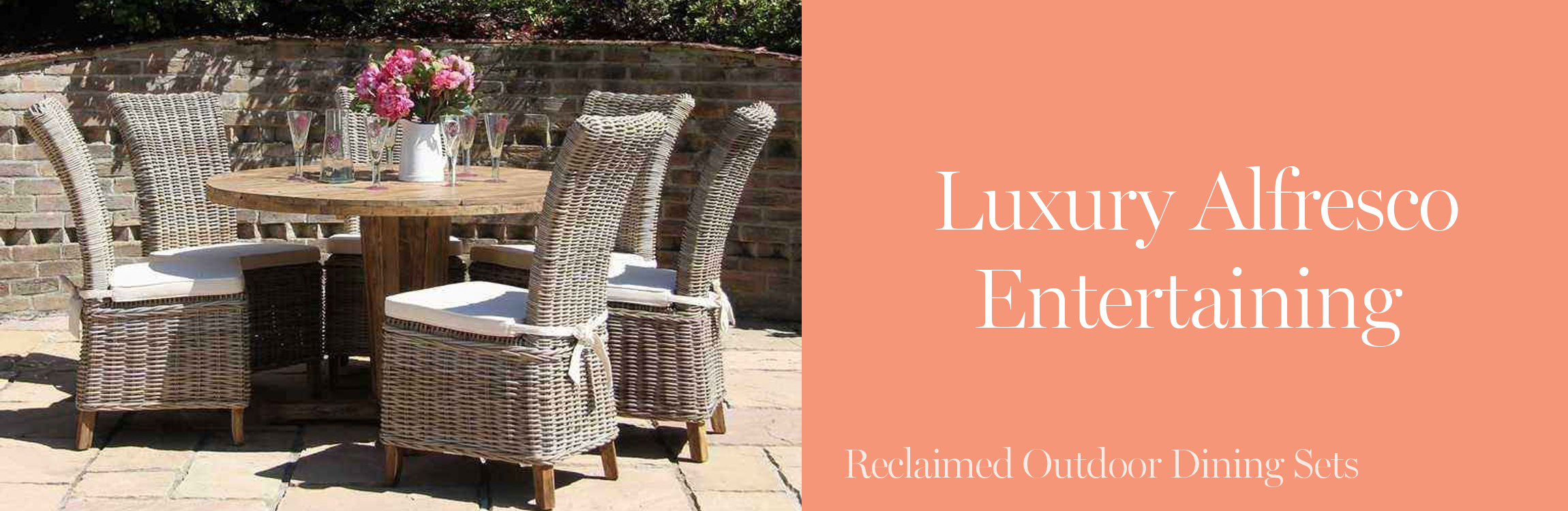Luxury Reclaimed Outdoor Dining Sets