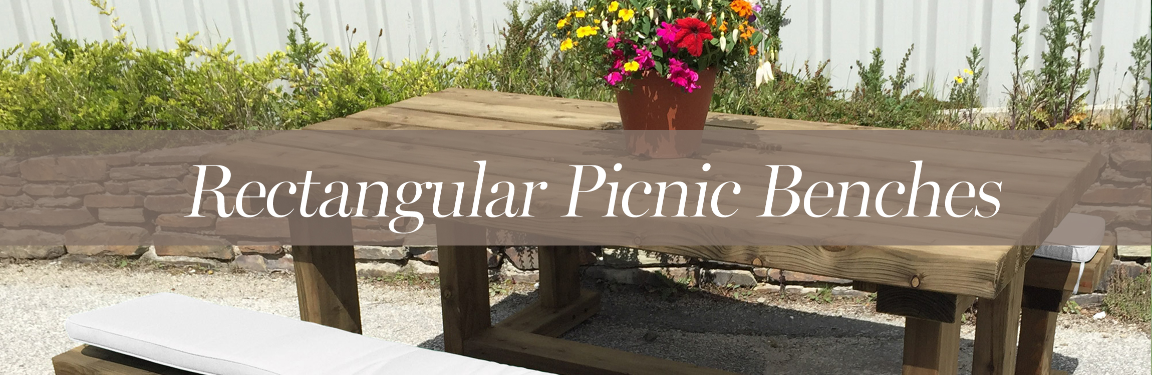 Rectangular Picnic Benches