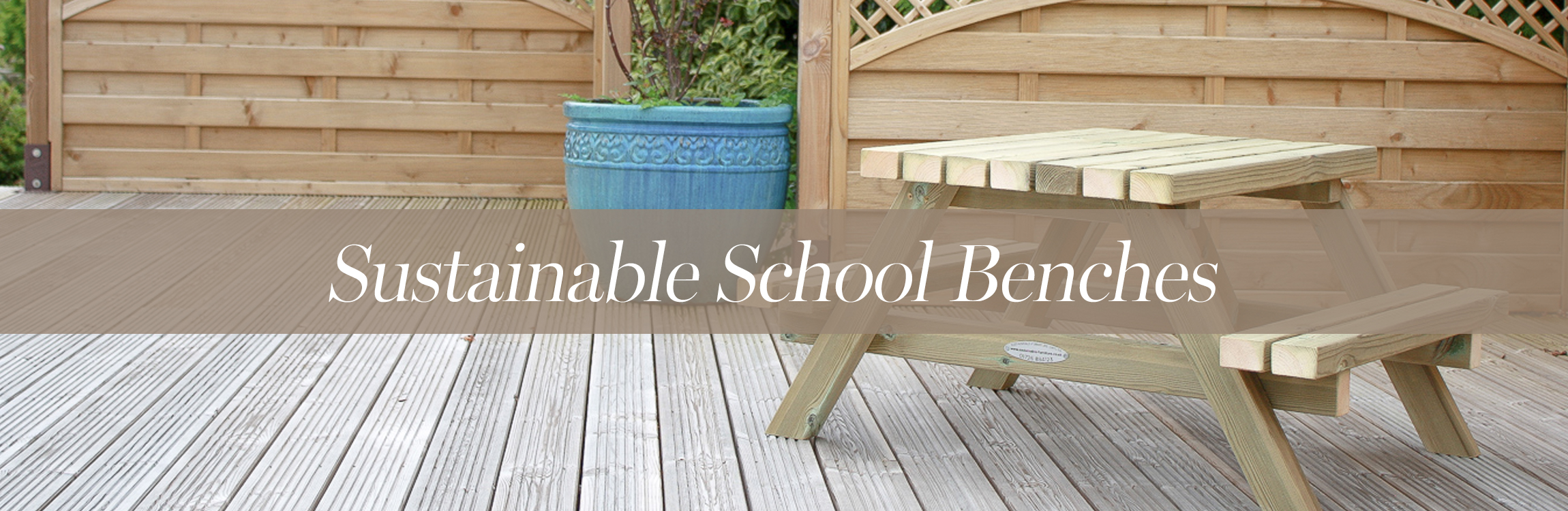 Sustainable School Benches