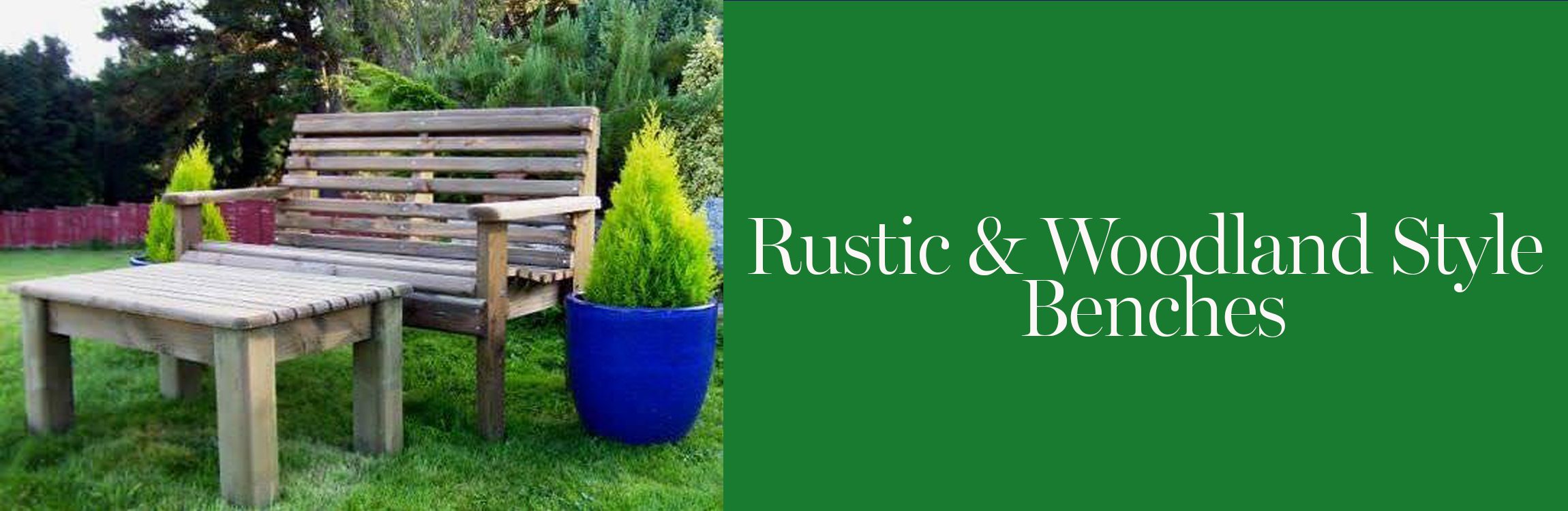 Woodland Style & Rustic Garden Benches
