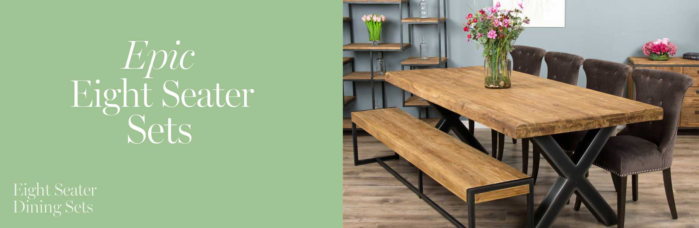 8 seat dining sets