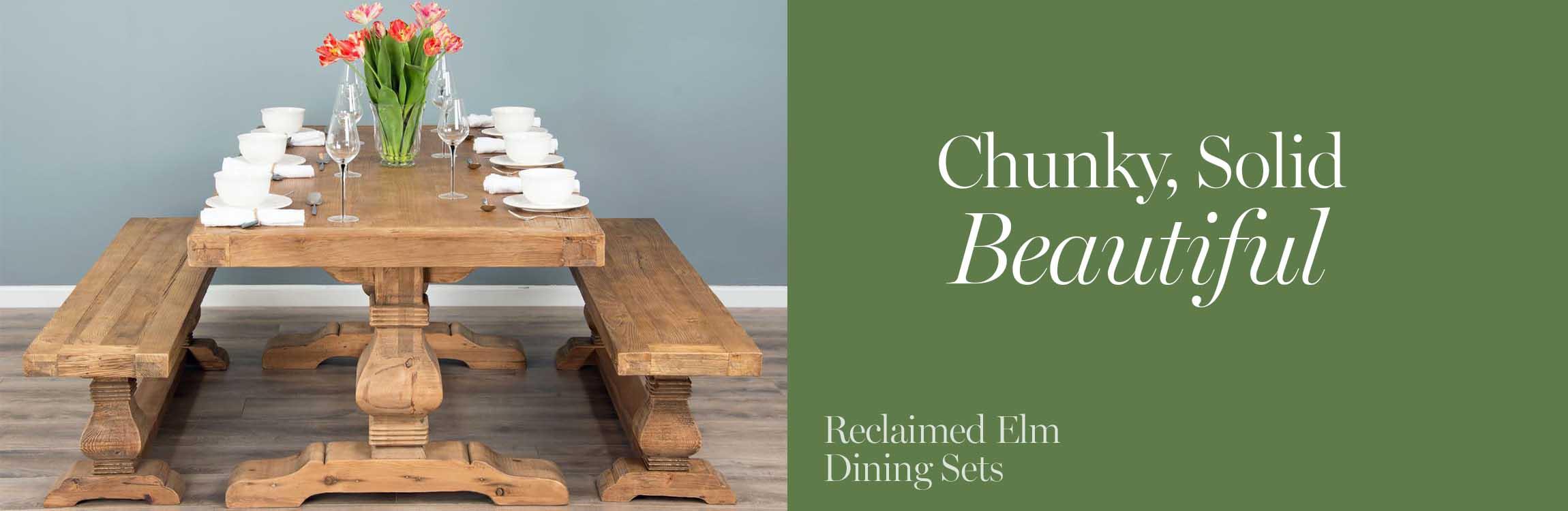 Reclaimed Elm Dining Sets