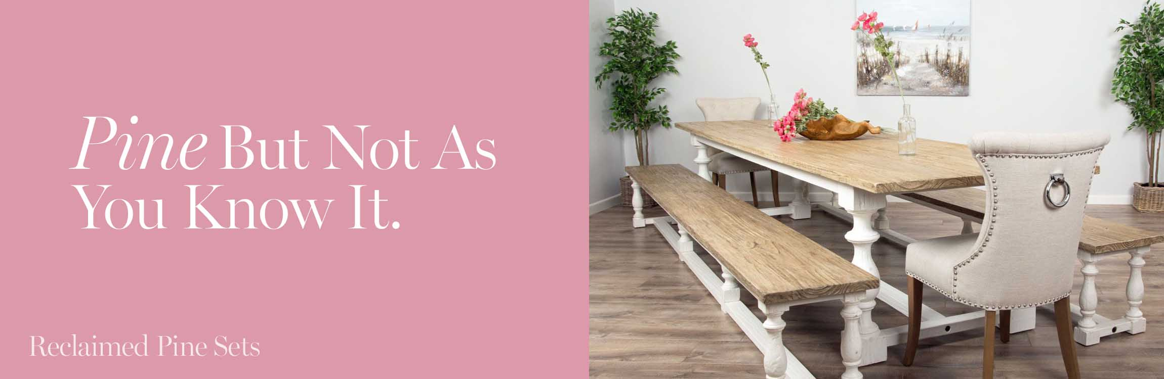 Reclaimed Pine Dining Sets