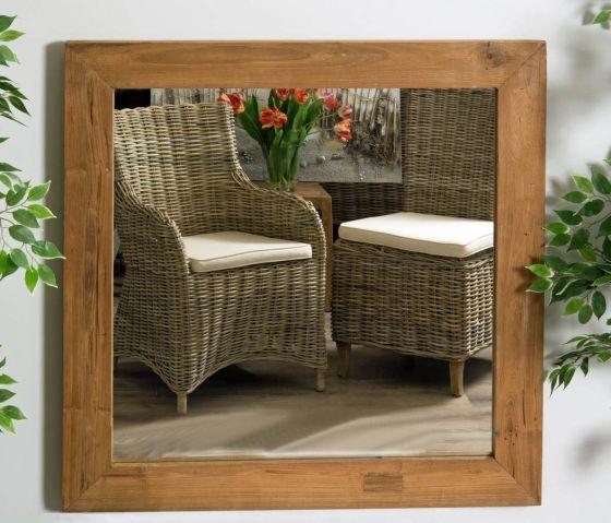 Reclaimed Teak Square Mirror - 2 Sizes