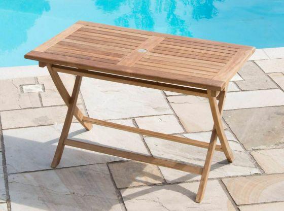1.2m Rectangular Teak Folding Table