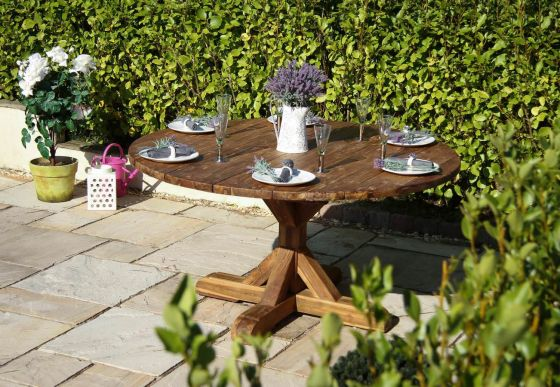 1.5m Dartmouth Reclaimed Teak Circular Garden Table