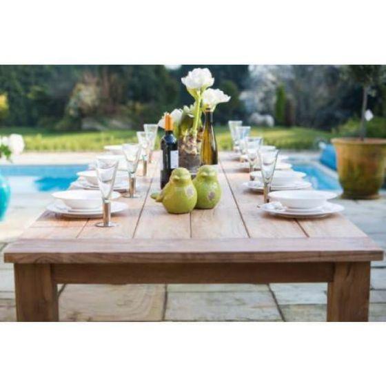 1.6m Reclaimed Teak Open Slatted Dining Table
