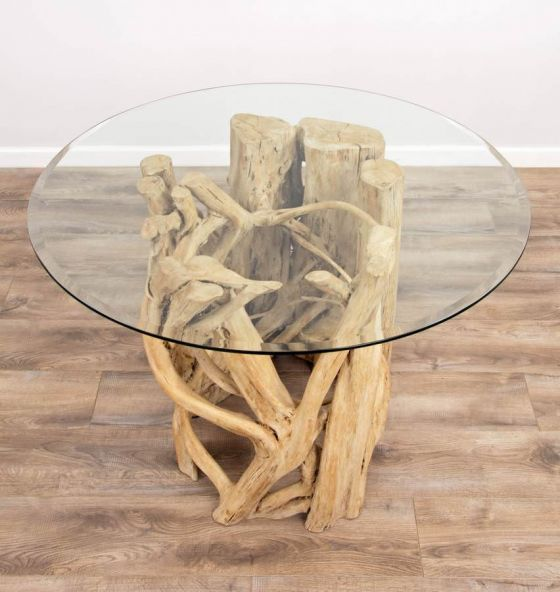 1.2m Java Root Circular Dining Table