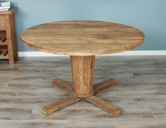 1.3m Reclaimed Teak Circular Character Dining Table