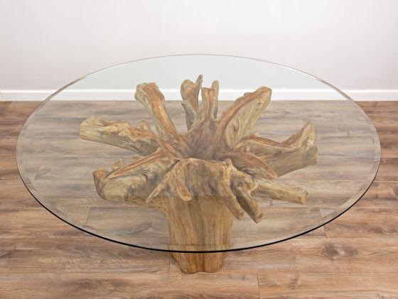 *SALE* 1.8m Reclaimed Teak Flute Root Circular Dining Table