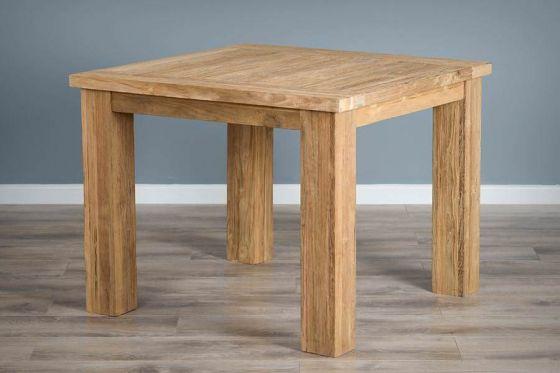 1m Reclaimed Teak Square Taplock Dining Table