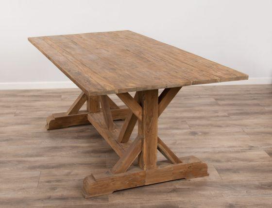 2.4m Reclaimed Teak Dinklik Dining Table