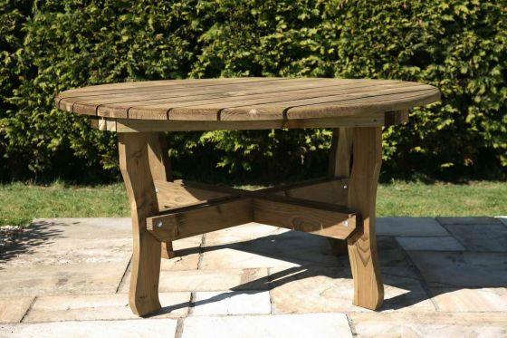 Round Woodland Garden Table