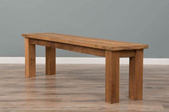 2.4m Reclaimed Teak Mexico Backless Dining Bench
