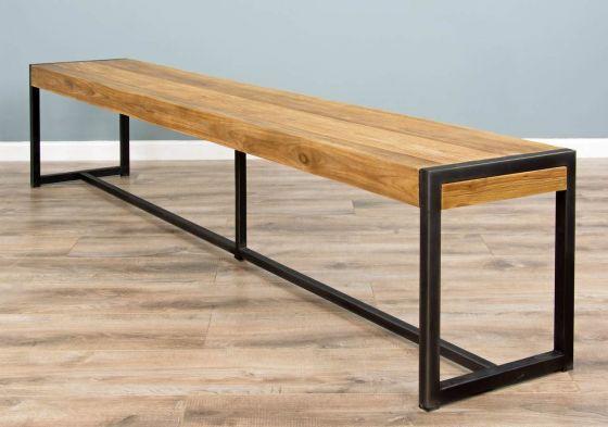 2.4m Reclaimed Teak Urban Fusion Dining Bench