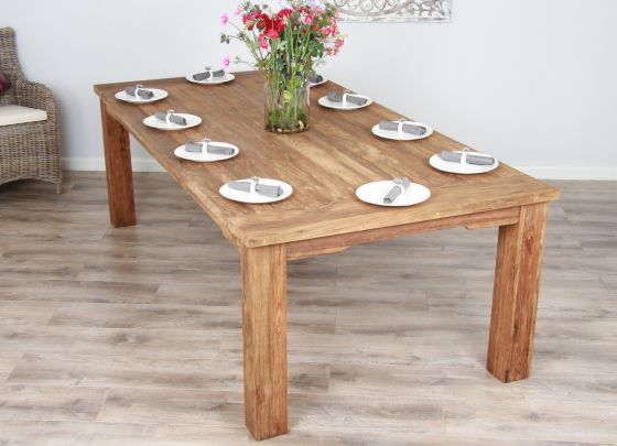 2.6m Reclaimed Teak Taplock Dining Table
