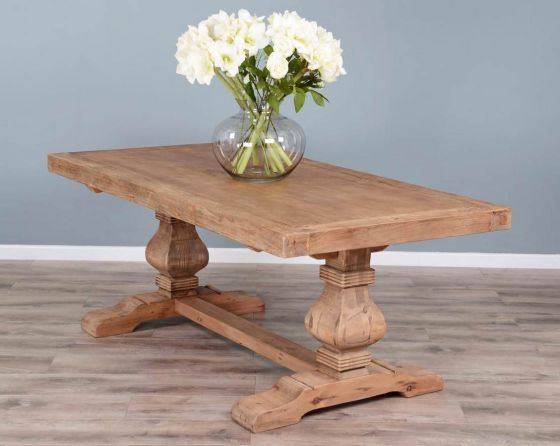 1.8m Reclaimed Elm Pedestal Dining Table