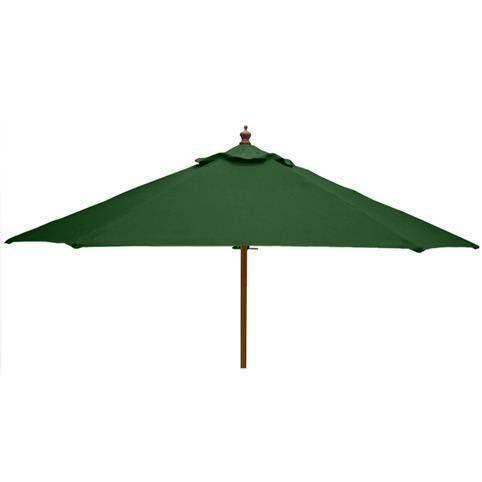 3m Round Hardwood Garden Parasol