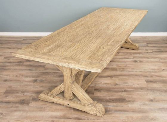 3m Reclaimed Pine Cross Dining Table