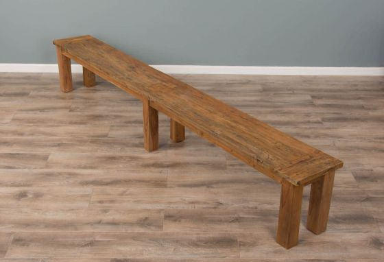 3m Reclaimed Teak Mexico Backless Dining Bench