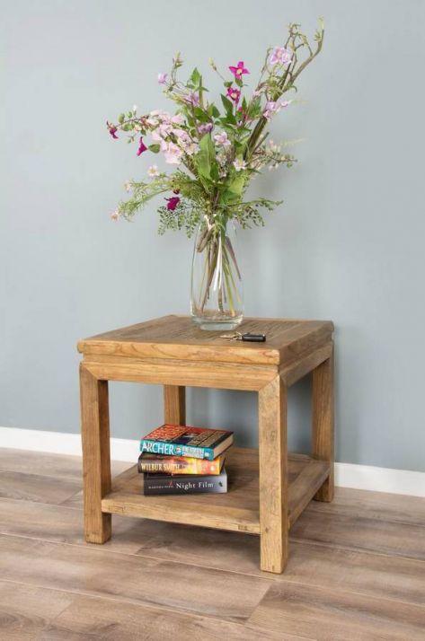 Reclaimed Elm Sofa End Table