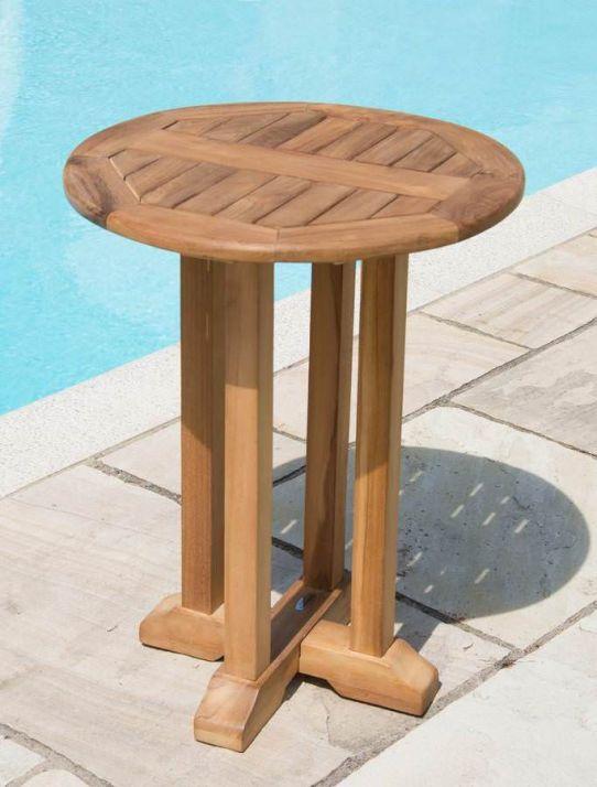 60cm Teak Circular Pedestal Table