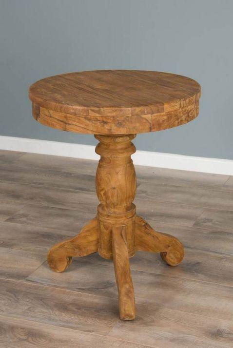 60cm Reclaimed Teak Circular Pedestal Table