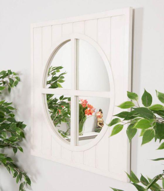 Aviron Wood Window Mirror