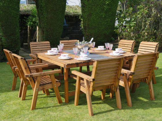 Orchard 1.6m Square Table with 8 Seats