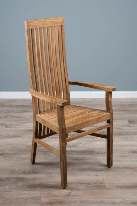 Reclaimed Teak Vikka Carver Dining Chair