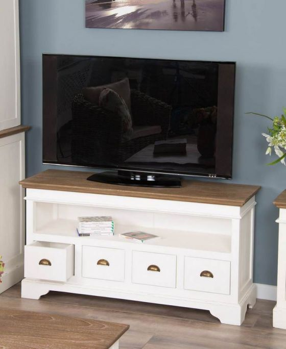 Brocante TV Cabinet with 4 Drawers