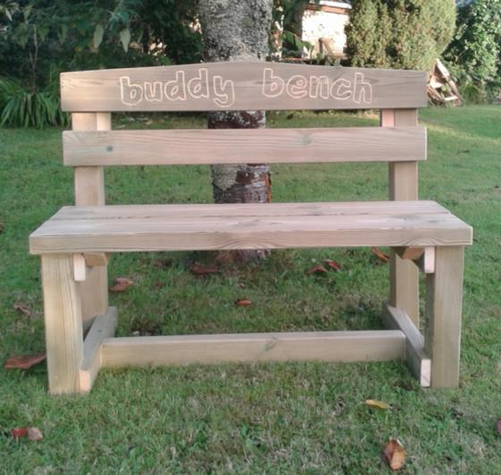 Children's Swedish Redwood Buddy Bench