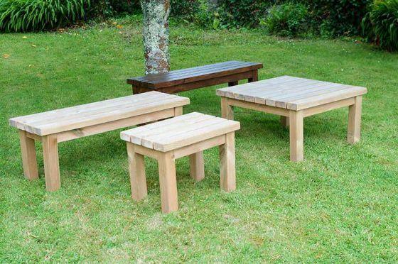 Swedish Redwood Garden Coffee Table - 4 Sizes