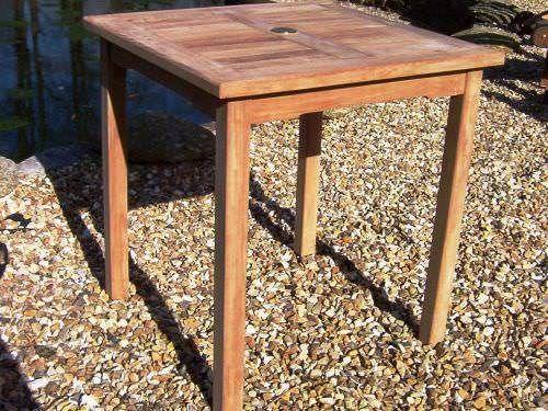 70cm Teak Square Bistro Table