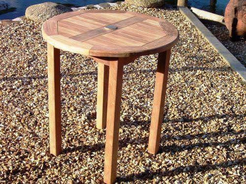 70cm Teak Circular Bistro Table