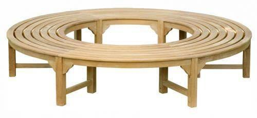 1.7m Teak Backless Tree Seat