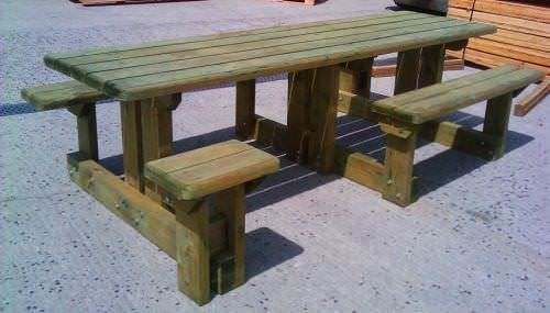 Double Disabled Access Picnic Bench