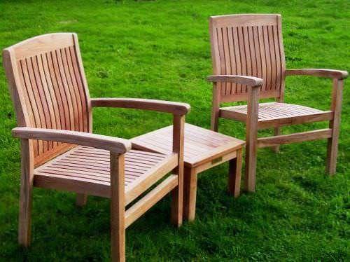 Teak Marley Armchair and Coffee Table Set