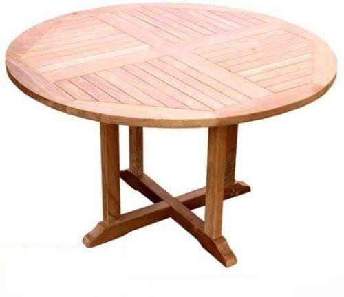 1.2m Teak Circular Pedestal Garden Table