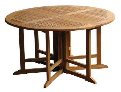 1.4m Teak Circular Gateleg Table